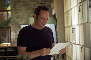 "Vince Vaughn as David Wozniak in ""Delivery Man."""