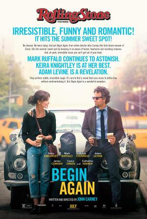 """Poster art for """"Begin Again."""""""