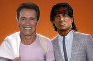 What If Schwarzenegger and Stallone Starred in Classic '80s TV Shows?