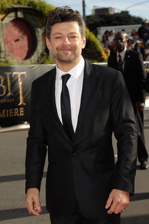 """Andy Serkis at the world premiere of """"The Hobbit: An Unexpected Journey"""" in New Zealand."""