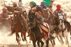 """Tahar Rahim as Prince Auda in """"Day of the Falcon."""""""