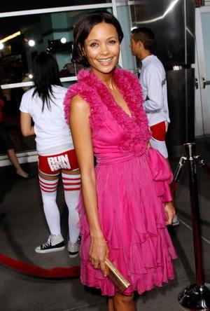 "Actress Thandie Newton at the L.A. premiere of ""Run, Fat Boy, Run."""