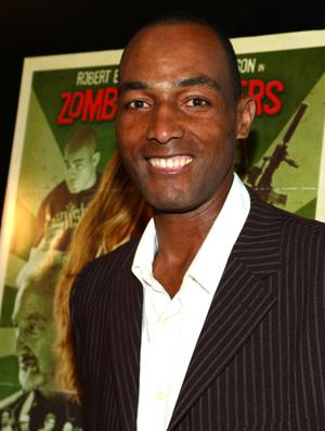 """Calvin Green at the California premiere of """"Zombie Strippers"""" - Arrivals."""
