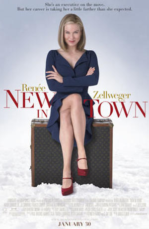 """Poster art for """"New in Town."""""""