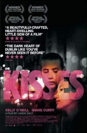 """Poster art for """"Kisses."""""""