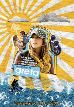 "Poster art for ""According To Greta."""