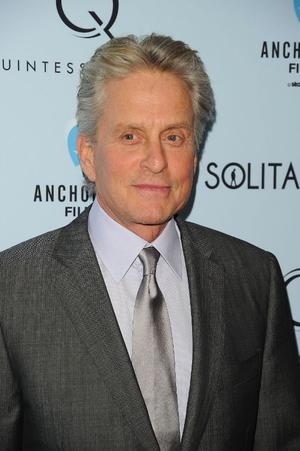 "Michael Douglas at the New York premiere of ""Solitary Man."""