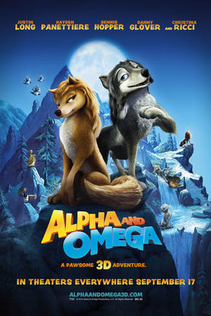 """Poster art for """"Alpha and Omega 3D"""""""