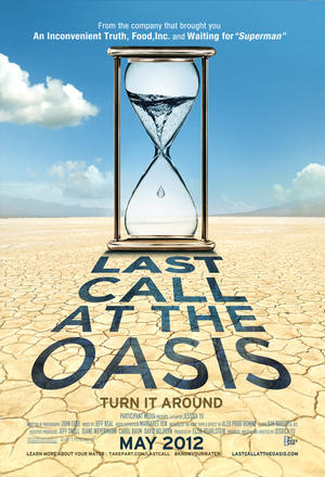 "Poster art for ""Last Call at the Oasis."""