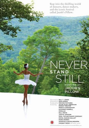 "Poster art for ""Never Stand Still."""