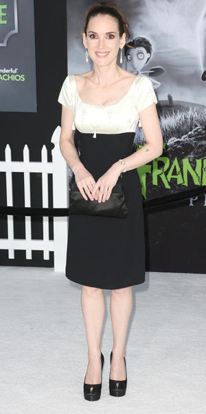 """Winona Ryder at the California premiere of """"Frankenweenie."""""""