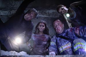 "Patricio Strahovsky, Lorenza Izzo, Marcial Tangle and Andrea Osvart in ""Aftershock."""