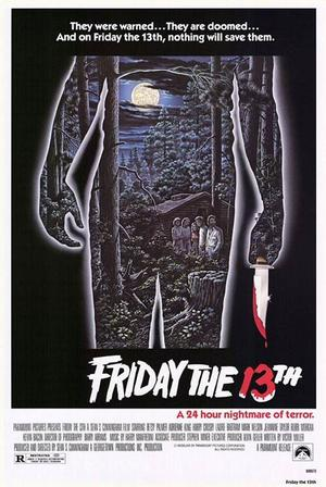 "Poster art for ""Friday The 13th Marathon."""
