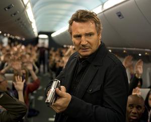 """Liam Neeson in """"Non-Stop."""""""
