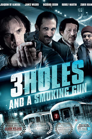 """Poster art for """"3 Holes and a Smoking Gun."""""""