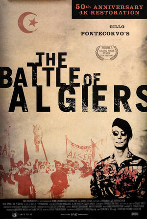 "Poster art for ""The Battle of Algiers."""