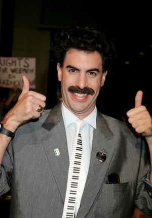"Sacha Baron Cohen at the Hollywood premiere of ""Borat: Cultural Learnings Of America"""