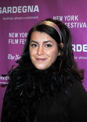 "Writer/director Marjane Satrapi at the N.Y. premiere of ""Persepolis."""