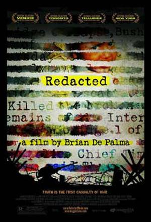 """Poster art for """"Redacted."""""""