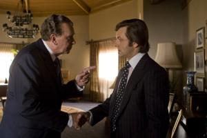 "Frank Langella and Michael Sheen in ""Frost/Nixon."""