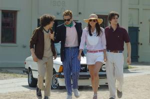 """Jesse Eisenberg, Sebastian Stan, Eva Amurri and Jason Ritter in """"The Education of Charlie Banks."""""""