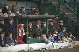 """Maurice Roeves as Jimmy Gordon, Timothy Spall as Peter Taylor and Michael Sheen as Brian Clough in """"The Damned United."""""""