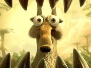 "Scrat in ""Ice Age: Dawn of the Dinosaurs."""