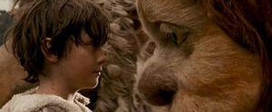 """Max Records as Max with KW (voiced by Lauren Ambrose) in """"Where the Wild Things Are."""""""