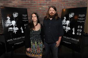 "Audrey Ewell and Aaron Aites at the New York premiere of ""Until the Light Takes Us."""