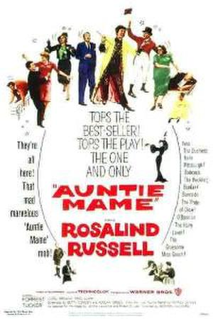 "Poster art for ""Auntie Mame."""