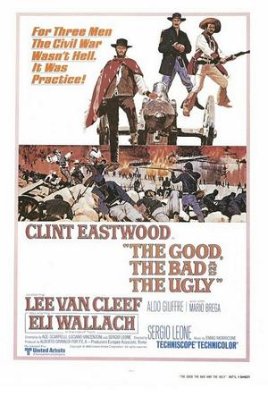 "Poster art for ""The Good, the Bad and the Ugly."""
