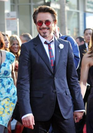 "Robert Downey, Jr. at the California premiere of ""Iron Man 2."""