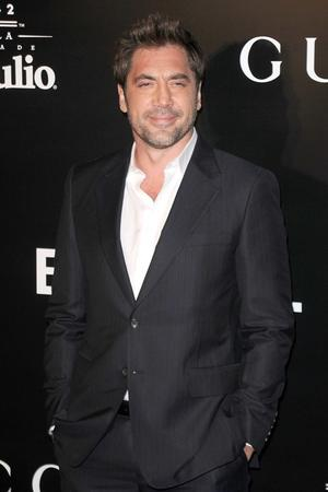 "Javier Bardem at the California premiere of ""Biutiful."""
