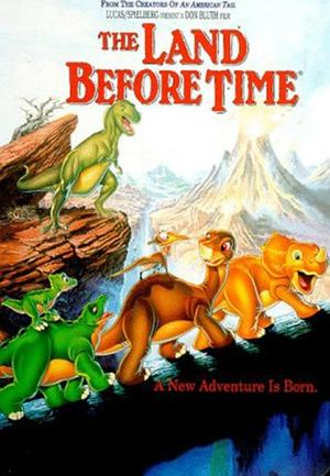 "Poster art for ""The Land Before Time."""
