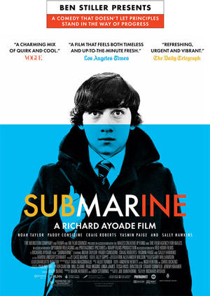 "Poster art for ""Submarine."""