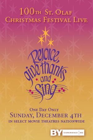 """Poster art for """"St. Olaf Christmas Festival LIVE."""""""
