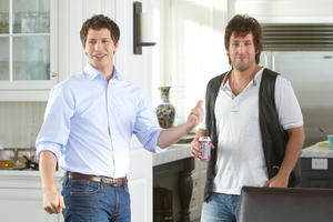 """Andy Samberg as Todd and Adam Sandler as Donny in """"I Hate You, Dad."""""""