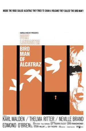 "Poster art for ""Birdman of Alcatraz."""