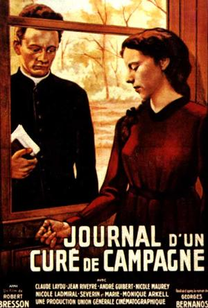 """Poster art for """"Diary of a Country Priest."""""""