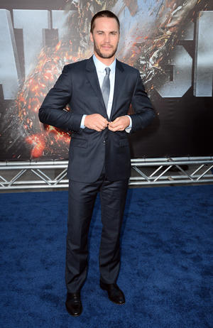 "Taylor Kitsch at the California premiere of ""Battleship."""