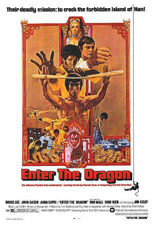 "Poster art for ""Enter the Dragon."""