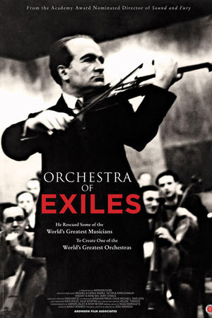 """Poster art for """"Orchestra of Exiles."""""""