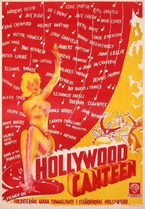 "Poster art for ""Hollywood Canteen."""