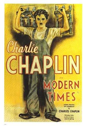 """Poster art for """"Modern Times."""""""