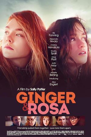 """Poster art for """"Ginger & Rosa."""""""