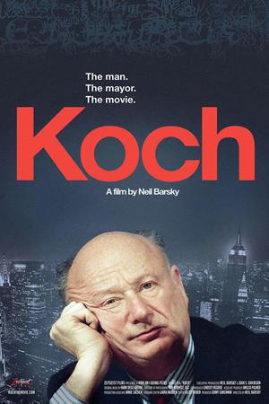 """Poster art for """"Koch."""""""