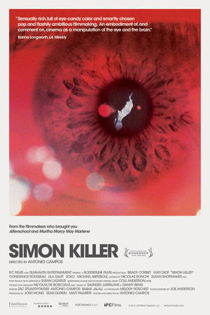 "Poster art for ""Simon Killer."""