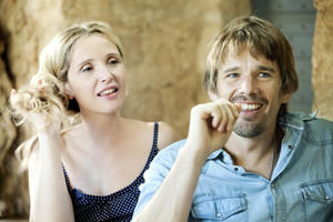 "Julie Delpy and Ethan Hawke in ""Before Midngiht."""