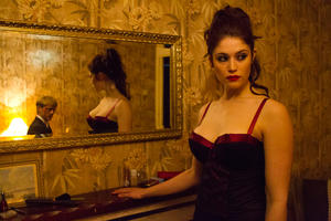 "Gemma Arterton as Clara and Thure Lindhardt as Werner in ""Byzantium."""