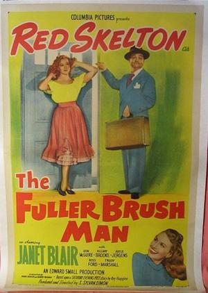 "Poster art for ""The Fuller Brush Man."""